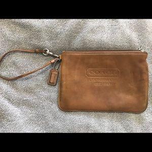 Vintage Coach leather wristlet